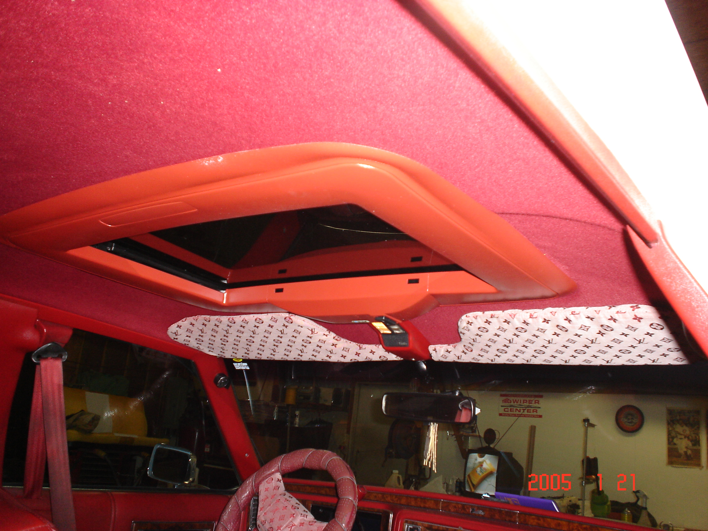 Headliner replacement with spoiler sunroof